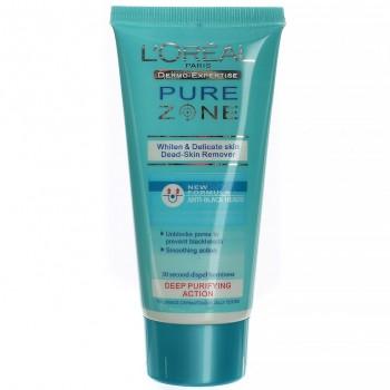 Скраб для лица L'oreal Pure Zone Whiten Delicate Skin Dead-Skin Remover,80ml