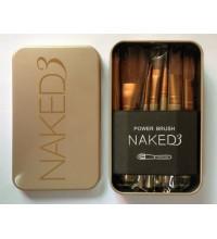 Набор кистей NAKED3 для макияжа 12 предметов в футляре