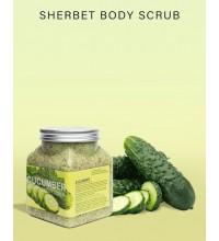 Нежный скраб для тела wokali sherbet body skrab cucumber 500мл