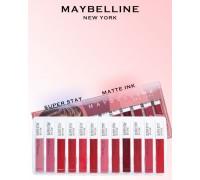 Набор матовых блесков для губ Maybeline, 12шт.