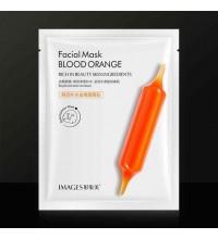 Антивозрастная тканевая маска c экстрактом цитруса Юдзу Images Blood Orange Facial Mask