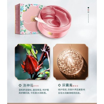 DSIUAN Гидрогелевые патчи от мимических морщин с экстрактом Китайской розы