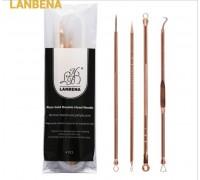 Профессиональный набор инструментов для удаления акне и чёрных точек Lanbena, Gold