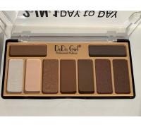 Палетка для макияжа глаз и бровей DoDo Girl 2 in 1 Day to Day (9 цветов)D3068
