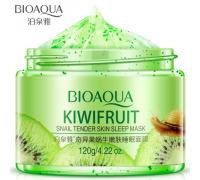 BIOAQUA KIWIFRUIT Ночная маска для лица с экстрактом киви и слизью улитки, 120 г