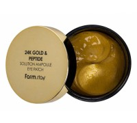 Farmstay Гидрогелевые патчи для глаз 24K Gold & Peptide Solution Ampoule Eye Patch, 60 шт.