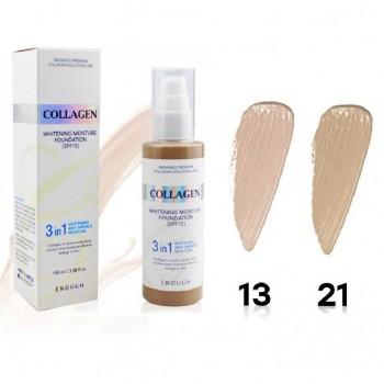 Тональный крем с коллагеном Collagen Whitening Moisture Foundation 3 in 1 SPF 15 №13 (100 мл)