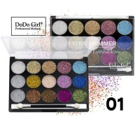 Тени для век DoDo Girl Palette Extra Shimmer Gel Glitter Eyeshadow #01 15 цветов