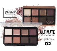 Тени Do Do Girl Ultimate Flowkit, Матовые+Сатиновые, 8 цветов, тон 02