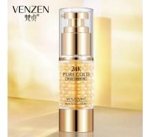 Крем для кожи вокруг глаз против мимических морщин Venzen 24K Pure Gold