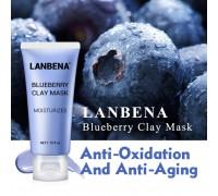 Увлажняющая,разглаживающая морщины,питательная маска для лица Lanbena Blueberry Mask,50гр