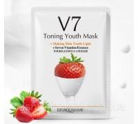 Витаминная маска «BIOAQUA» из серии V7 с экстрактом клубники