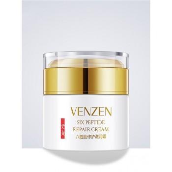 Омолаживающий крем для лица против мимических морщин с пептидами и витамином Е Venzen, 50 гр.