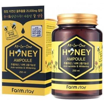 Многофункциональная ампульная сыворотка с медом FarmStay All-In-One Honey Ampoule