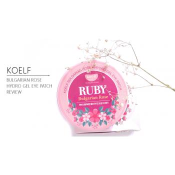 Гидрогелевые патчи для век с рубиновой пудрой и розой Petitfee Koelf Ruby Bulgarian Rose Eye Patch