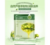 Питательная и увлажняющая тканевая маска для лица Hchana Olive