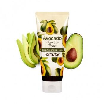 Глубоко очищающая пенка для лица с экстрактом авокадо Farmstay, 180мл. 100% KOREA.