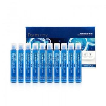 Восстанавливающий филлер для волос FarmStay Collagen Water Full Moist Treatment Hair Fille, 13МЛ. 100% KOREA.