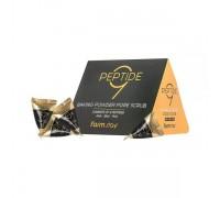 Скраб в пирамидках с пептидным комплексом Farmstay baking powder pore scrub 9 peptide, 1шт. 100% KOREA.