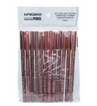 Набор карандашей для контура губ AIPMQMAN