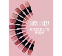 Набор матовых помад для губ Miss Lirenn, 12шт.