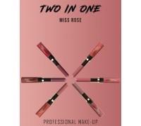 Двухсторонняя подводка для губ и губная помада MISS ROSE