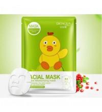 Bioaqua питательная маска тканевая с эссенцией коллагена и граната