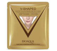 BioAqua V-Shaped Экспресс-лифтинг маска для омоложения лица и шеи