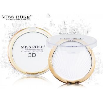 Бесцветная матирующая пудра для лица Miss Rose Compact Powder 3D, 12гр