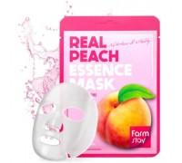 Маска для лица тканевая увлажняющая с экстрактом персика Real Peach Essence Mask, 23мл.