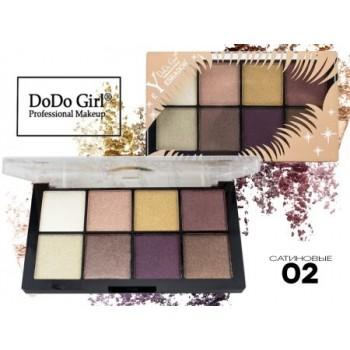 Тени Do Do Girl Eyeshadow перламутр+матовые, 8 цветов, тон 02