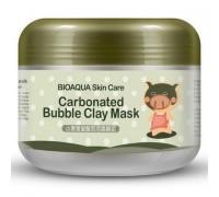 Очищающая пузырьковая маска «BiOaQUA» Carbonated Bubbled Clay Mask