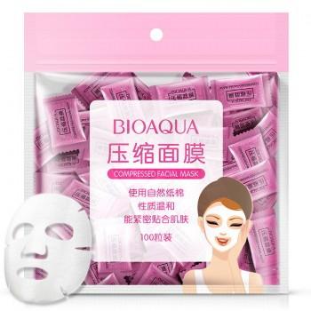 Прессованная тканевая маска-таблетка BioAqua Compressed Facial Mask