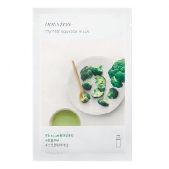 Маска с экстрактом брокколи на водной основе INNISFREE My Real Squeeze Mask Broccoli