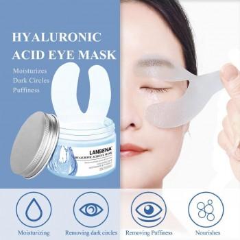 Патчи под глаза LANBENA Hyaluronic Acid Eye Mask от отеков и темных кругов, 50 шт