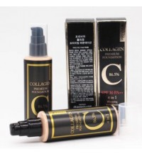 Стойкий тональный крем Privia U Collagen Premium Foundation 86.5% SPF 30 PA++ 4 in 1 № 21 (100 мл)