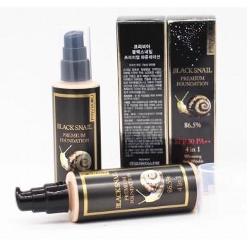 Тональный крем Privia U Black Snail Premium Foundation 86.5% SPF 30 PA++ 4 in 1 № 13 (100 мл)