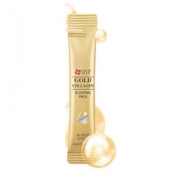Ночная маска на основе золота и коллагена SNP Gold Collagen Sleeping Pack,1 штука