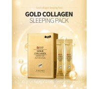 Ночная маска на основе золота и коллагена SNP Gold Collagen Sleeping Pack,20 шт