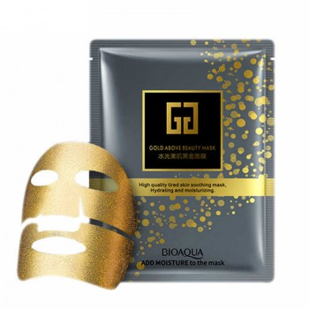 ЛИФТИНГ-МАСКА ИЗ ЗОЛОТОЙ ФОЛЬГИ С ГИАЛУРОНОВОЙ КИСЛОТОЙ BIOAQUA GOLD ABOVE BEAUTY MASK ~