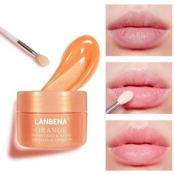 Увлажняюща,питательная маска-бальзам для губ Lanbena Orange,20гр