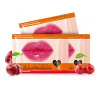 Маска для губ с коллагеном и экстрактом дикой спелой вишни