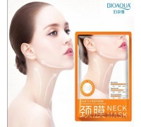 Маска-лифтинг для шеи с гиалуроновой кислотой и протеинами шелка BIOAQUA Neck Mask