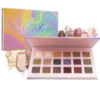 Тени Huda Full Function, Матовые+Перламутровые, 18 цветов