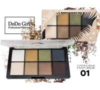 Тени Do Do Girl Eyeshadow перламутр+матовые, 8 цветов, тон 01