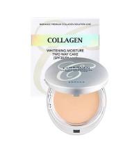 Enough Collagen 3 In 1 Two Way Cake Отбеливающая увлажняющая пудра для лица 3 в 1 с коллагеном (оттенок #13